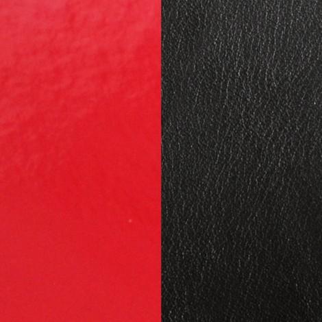 Les Georgettes(レジョルジェット)バングル用本革レザーバンドカラー、エナメルレッドxブラック