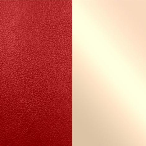 Les Georgettes(レジョルジェット)バングル用本革レザーバンドカラー、クリムゾンレッドxシェルピンク