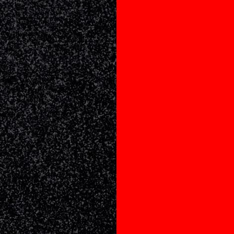 Les Georgettes(レジョルジェット)バングル用本革レザーバンドカラー、ブラックグリッターxペッパーレッド