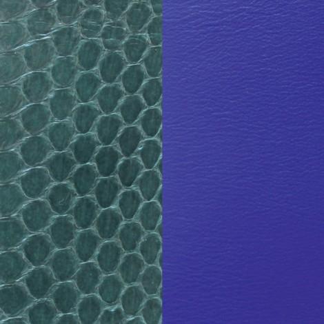 Les Georgettes(レジョルジェット)バングル用本革レザーバンドカラー、フォレストグリーンxブルー