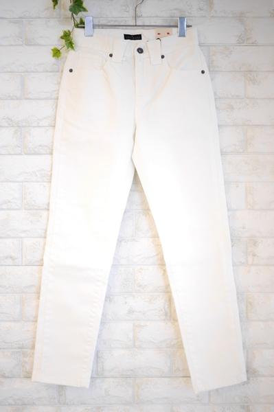 INDIMARK(インディマーク)白ホワイトボーイフレンドタイプデニムパンツ
